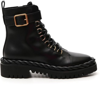 Valentino The Rope Lace-Up Combat Boots