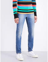 Fendi Embroidered-pocket Regular-fit Tapered Jeans