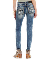 Miss Me Plaid Blowout Pocket Stretch Denim Skinny Jeans