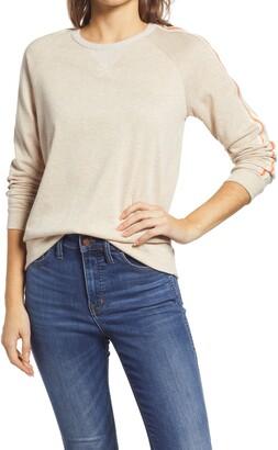 Everleigh Stripe Trim Sweatshirt