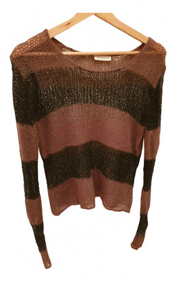 Whistles Brown Wool Knitwear