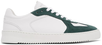 Filling Pieces White and Green Field Ripple Pine Sneakers