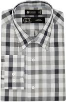 Haggar Men's Long-Sleeve Heather Check Dress Shirt