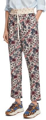 Scotch & Soda Floral Print Track Pants