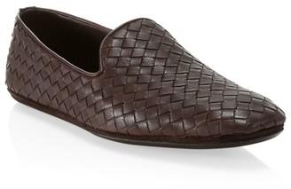 Bottega Veneta Intrecciao Foulard Leather Loafers