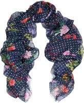 Oscar de la Renta Printed modal and cashmere -blend scarf