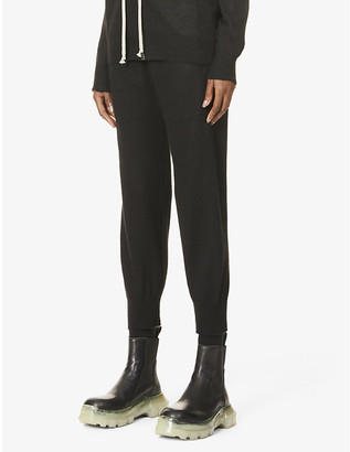 Rick Owens Tapered high-rise cashmere trousers