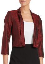 Nipon Boutique Textured Open-Front Blazer