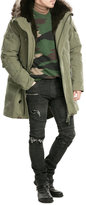 Yves Salomon Cotton Parka with Fur-Trimmed Hood