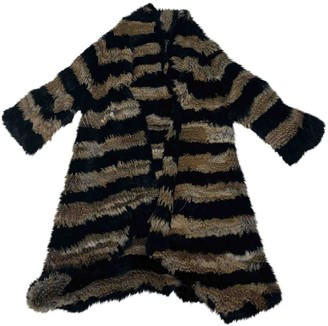 Elizabeth and James Multicolour Rabbit Coat for Women