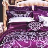 Home FERI 400TC plce style pure cotton geometric ptterns ten pieces (1Duvet cover 1Sheet 4pillowcse 1bed cover 2bck Cushion 1smll pillow)