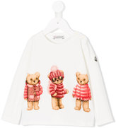 Moncler teddy bear print top - kids - Cotton/Spandex/Elastane - 2 yrs