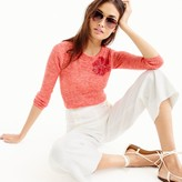 J.Crew Italian linen-blend ribbed crewneck sweater with sequins