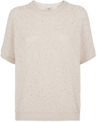 Peserico Cotton Sequin-Embellished Sweater
