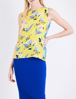 Diane von Furstenberg Floral-print silk-twill top