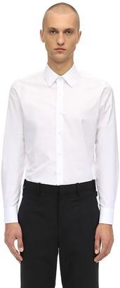 Prada Logo Slim Fit Cotton Shirt