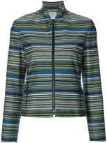 Akris Punto striped fitted jacket