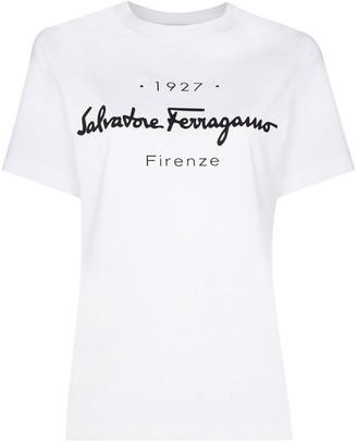 Salvatore Ferragamo logo-print crew-neck T-shirt