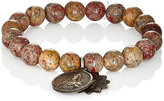 Miracle Icons Men's Beaded Bracelet-BROWN