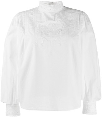 Closed Embroidered Back-Button Shirt