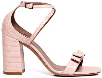 Tabitha Simmons Hudson croc-effect block heel sandals