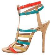 Jean-Michel Cazabat for Sophie Theallet Suede Colorblock Sandals