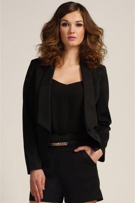 Paper Dolls Black Textured Long Sleeve Blazer