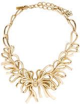 Oscar de la Renta Bow Crystal Collar Necklace