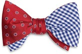 Brooks Brothers Double Sided Dot/Gingham Check Self Tie Bow Tie