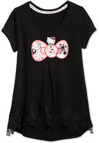 Hello Kitty Bow Graphic-Print T-Shirt, Toddler and Little Girls (2T-6X)