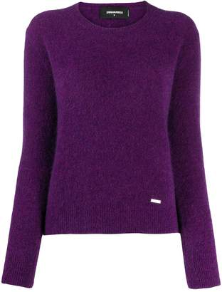 DSQUARED2 textured crew neck jumper