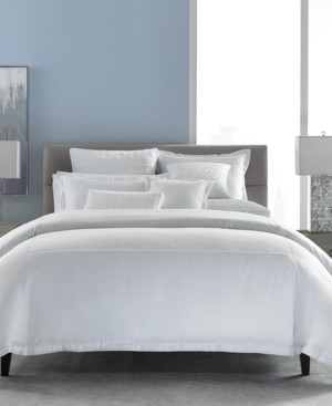Hotel Collection Cotton Embroidered Frame Twin Duvet Cover, Created for Macy's Bedding