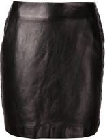 Thierry Mugler leather eyelets embellished skirt