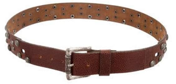 Just Cavalli Leather Studded Belt brown Leather Studded Belt