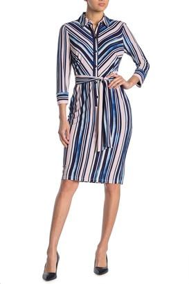Maggy London Collar Sheath Dress