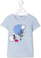 Kenzo cactus print T-shirt - kids - Cotton/Spandex/Elastane - 4 yrs