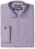 Stacy Adams Men's Textured Houndstooth Classic Fit Dress Shirt