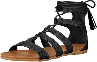 Qupid Women's Baya-01 Gladiator Sandal