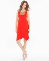 Soma Intimates Soutache Sleeveless Short Dress Poppy