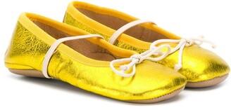 Pépé T-bar strap ballerina shoes