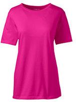 Lands' End Women's Plus Size Relaxed Supima Crewneck T-shirt-Rich Sapphire