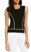 Preston & York Natalie Sleeveless Knit Shell