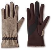 Isotoner Impressions By Women's Herringbone Gloves