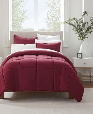 Serta Simply Clean Antimicrobial Twin Extra Long Comforter Set, 2 Piece Bedding