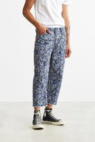 BDG Washed Floral Straight Cropped Jean