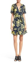 A.L.C. Women's Micah Floral Silk Wrap Dress