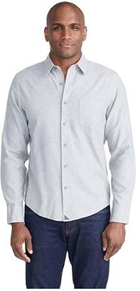 UNTUCKit Flannel Sherwood Shirt (Navy) Men's Clothing