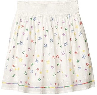 Stella McCartney Kids Stars Embroidered Skirt (Toddler/Little Kids/Big Kids) (Multi) Girl's Skirt