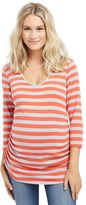Maternity Oh Baby by MotherhoodTM Striped Keyhole Tee