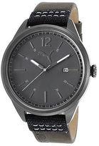 Puma PU104001004 Men's Legacy Grey Gen Leather Dark Grey Dial Gunmetal Ion